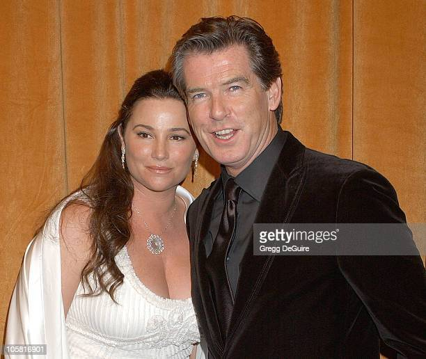 Keely ShayeSmith and Pierce Brosnan during The Weinstein Co/Glamour 2006 Golden Globe After Party Arrivals at Trader Vic's in Beverly Hills...