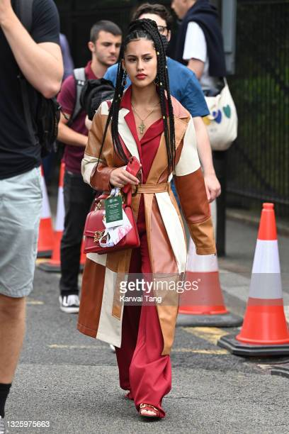 Keen attends the Wimbledon Tennis Championships at All England Lawn Tennis and Croquet Club on June 28, 2021 in London, England.