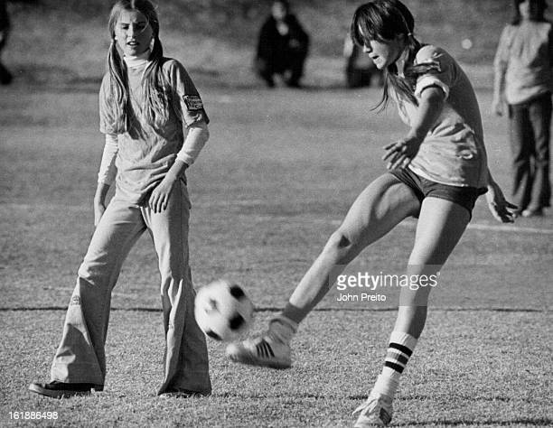 DEC 1975 DEC 6 1975 DEC 10 1975 Keen Competition Sparks Junior Soccer Playoffs At left Arvada Wildcat player Richard Hack and unidenítified Colorado...