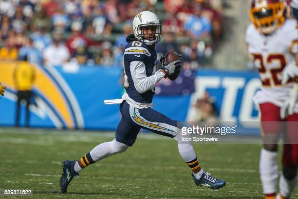 Keenan Allen of the Los Angeles Chargers catches the ball during a NFL game between the Washington Redskins and the Los Angeles Chargers on December...