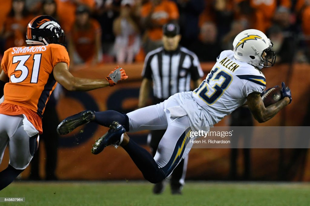 Denver Broncos VS Los Angeles Chargers, game 1 : News Photo