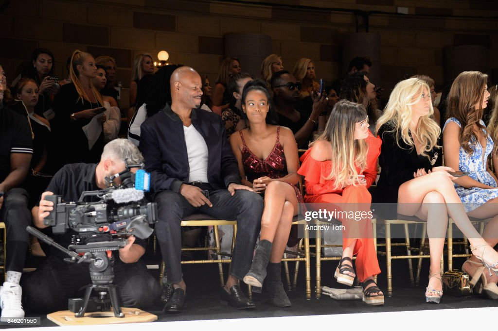 Keenan Ivory Wayans (L) attends the Sherri Hill NYFW SS18 Runway Show at Gotham Hall on September 12, 2017 in New York City.