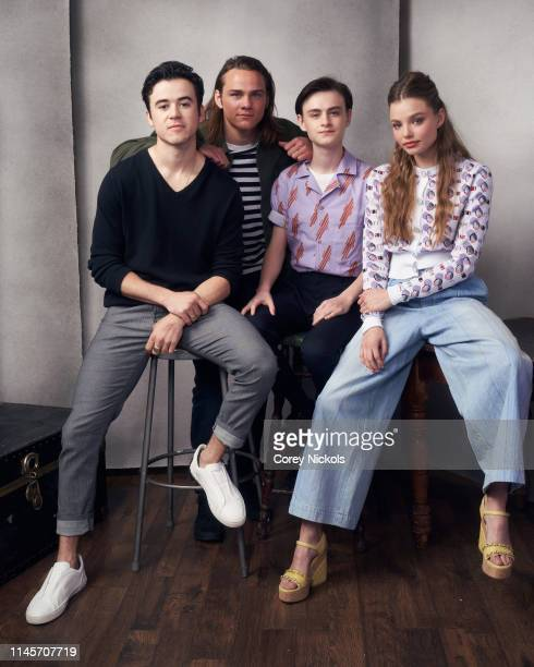 Keenan Johnson Alex Neustaedter Jaeden Martell and Kristine Froseth of the film 'Low Tide' poses for a portrait during the 2019 Tribeca Film Festival...