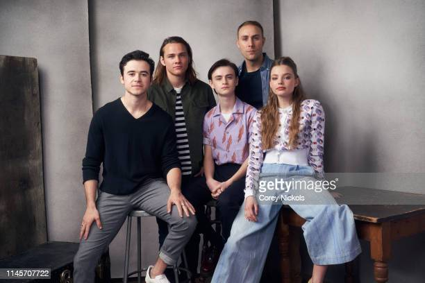 Keenan Johnson Alex Neustaedter Jaeden Martell Kevin McMullin and Kristine Froseth of the film 'Low Tide' poses for a portrait during the 2019...