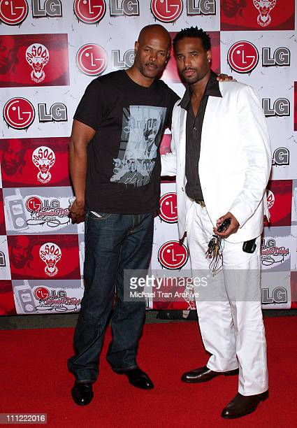Keenen Ivory Wayans and Shawn Wayans during LG Jermaine Dupri Launch New Fusic Arrivals at Day After Nightclub in Hollywood California United States