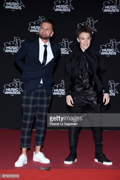 Keen'V and LenniKim attend the 19th NRJ Music Awards on November 4 2017 in Cannes France