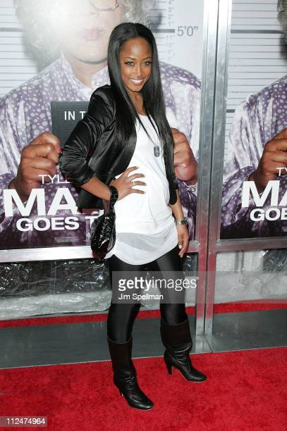 Keenyah Hill attends the premiere of Tyler Perry's Madea Goes to Jail at the AMC Loews Lincoln Center on February 18 2009 in New York City
