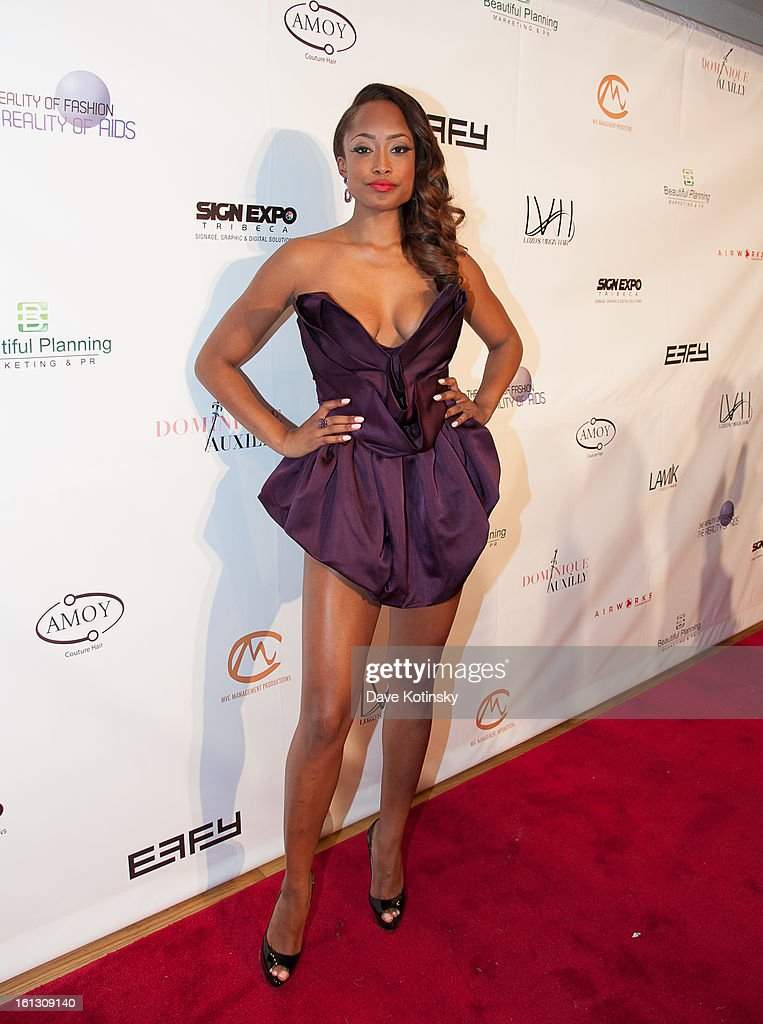 Keenyah Hill attends 'The Reality Of Fashion, The Reality Of AIDS' Benefit during Fall 2013 Fashion Week at Altman Building on February 9, 2013 in New York City.