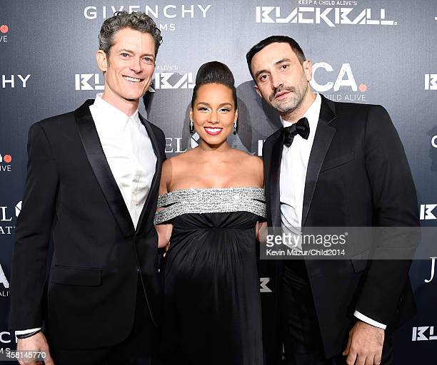 Keep A Child Alive CEO Peter Twyman Alicia Keys and Riccardo Tisci attend Keep A Child Alive's 11th Annual Black Ball at Hammerstein Ballroom on...