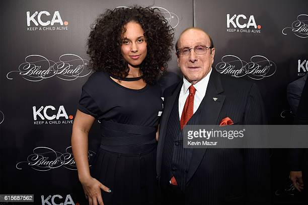 Keep A Child Alive cofounder and singer Alicia Keys and record produce and honoree Clive Davis attend Keep A Child Alive's Black Ball 2016 at...