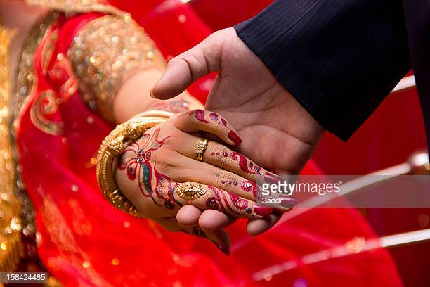 keep faith i am here beside with you - bangladeshi bride stock photos and pictures
