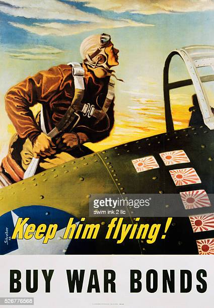 Keep Him Flying Buy War Bonds Poster by Georges Schrieber