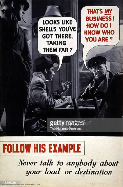 Keep It Dark Careless Talk Costs Lives campaign WWII poster