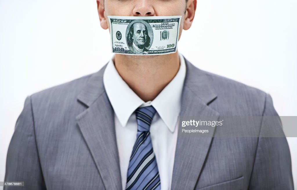 Keep it quiet! Or else... : Stock Photo
