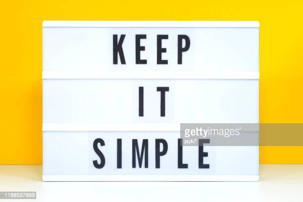keep it simple - lightbox stock pictures, royalty-free photos & images