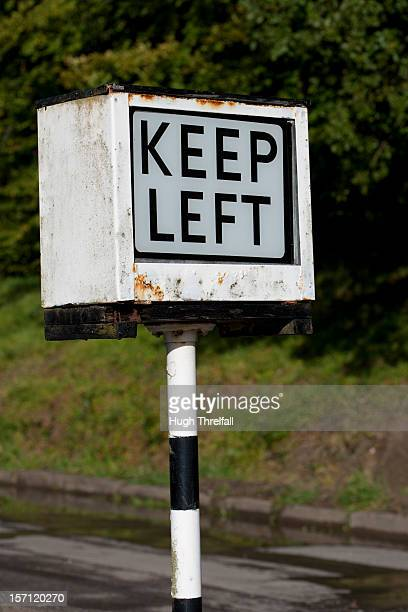 keep left roadsign - hugh threlfall stock pictures, royalty-free photos & images