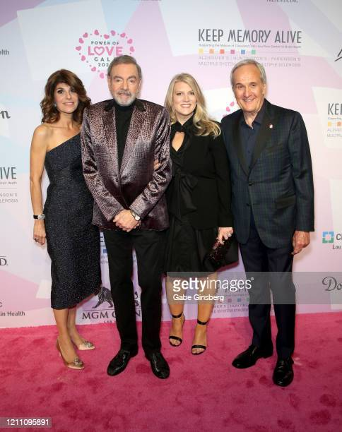 Keep Memory Alive CoFounder Camille Ruvo honoree Neil Diamond and his wife and manager Katie McNeil and Keep Memory Alive CoFounder Larry Ruvo attend...
