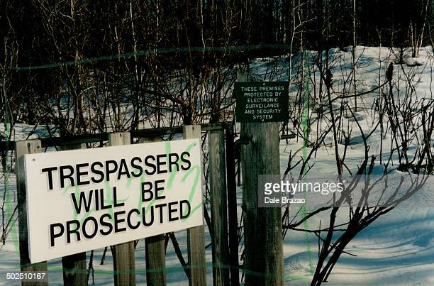 Keep out Frank Moores has a wellprotected cotage on Indian Lake south of Ottawa