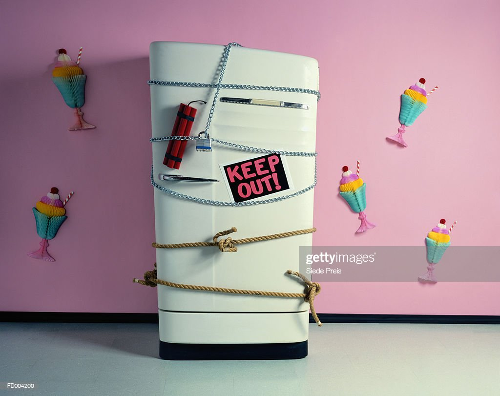 Keep Out of Refrigerator : Stock Photo