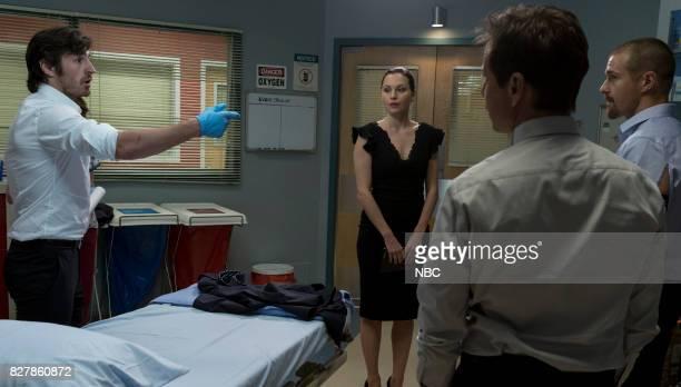 SHIFT Keep The Faith Episode 407 Pictured Eoin Macken as TC Callahan Jill Flint as Jordan Alexander Josh Kelly as Xavier Arnold Scott Wolf as Scott...