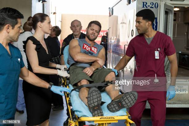 SHIFT 'Keep The Faith' Episode 407 Pictured Mark Consuelos as Cain Diaz Jill Flint as Jordan Alexander Wes Chatham as Clark JR Lemon as Kenny...