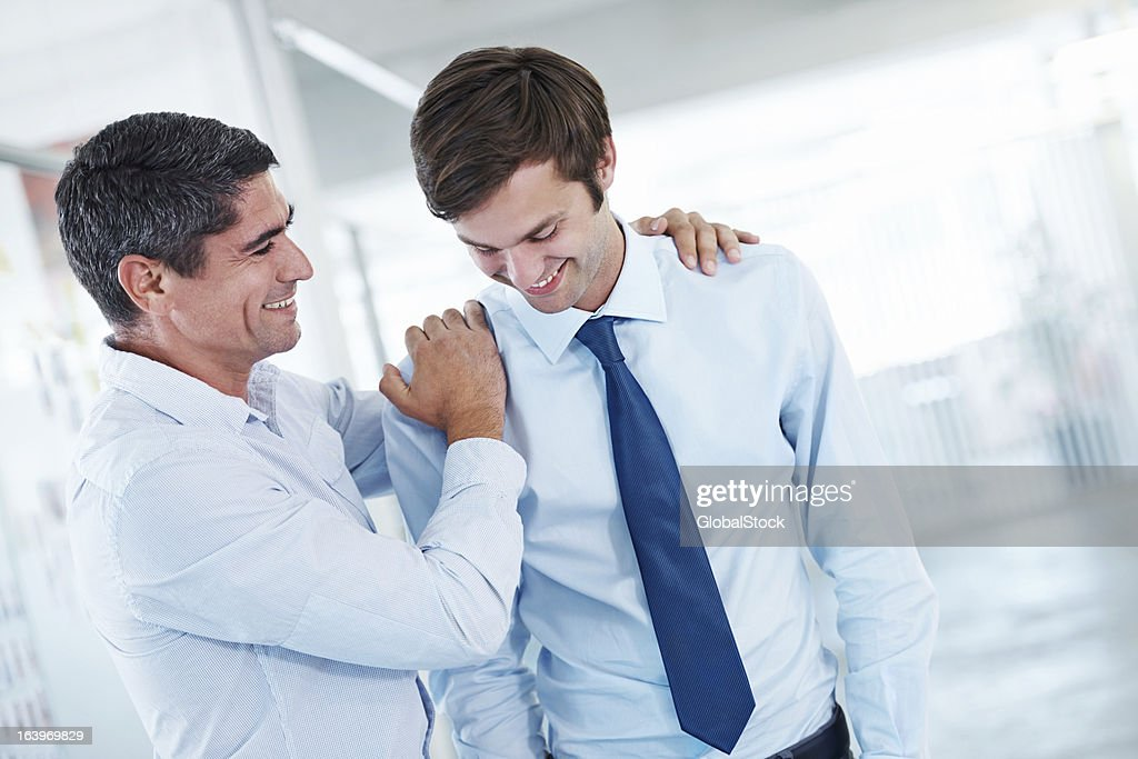 Keep up the great work my boy! : Stock Photo