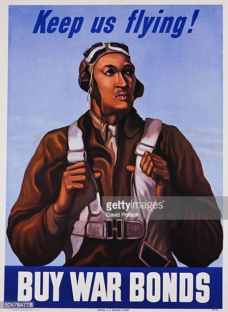 Keep Us Flying Buy War Bonds Tuskeegee Airmen Poster