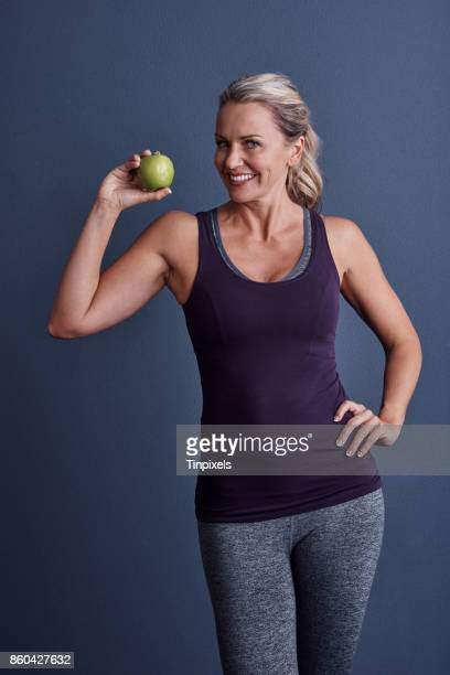 keep your diet healthy - one mature woman only stock pictures, royalty-free photos & images