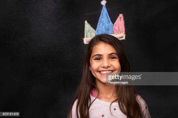 keep your head up and crown on, princess - chalk art equipment stock pictures, royalty-free photos & images