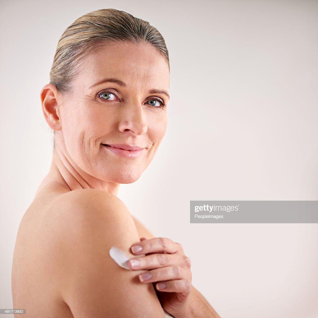 Halten Sie Ihre Haut weich und geschmeidig : Stock-Foto