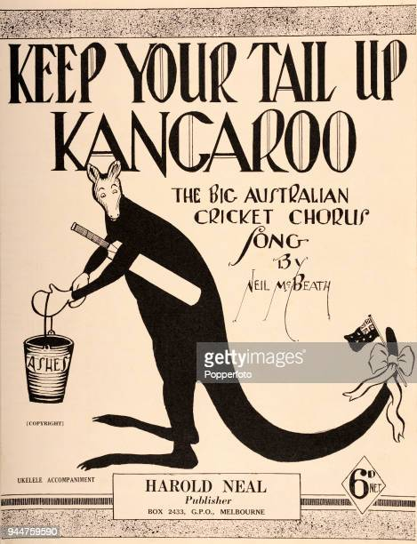 Keep Your Tail Up Kangaroo the Official Australian Cricket Board Song with words and music by Neil McBeath published by Harold Neal in 1932