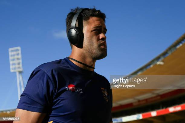 Keepa Mewett of Bay of Plenty looks on during the Mitre 10 Cup Championship Final match between Wellington and Bay of Plenty at Westpac Stadium on...