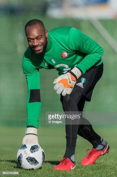 keeper Kenneth Vermeer of Feyenoord during a training session of Feyenoord Rotterdam at the Marbella Football Center on January 12 2018 in Marbella...