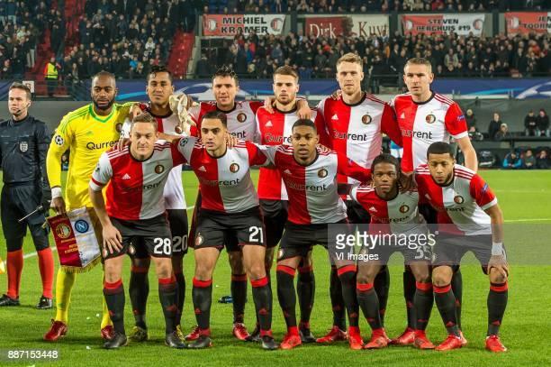 keeper Kenneth Vermeer of Feyenoord Renato Tapia of Feyenoord Steven Berghuis of Feyenoord Bart Nieuwkoop of Feyenoord Nicolai Jorgensen of Feyenoord...