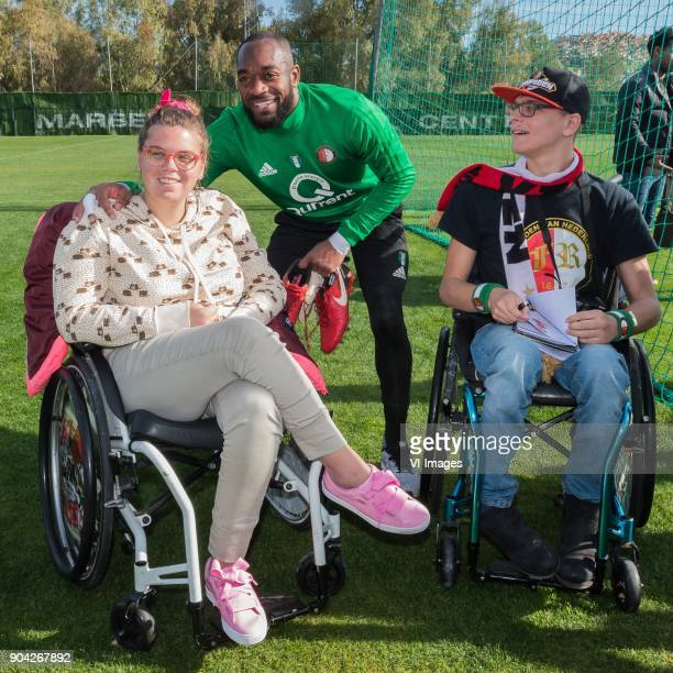 keeper Kenneth Vermeer of Feyenoord with supporters during a training session of Feyenoord Rotterdam at the Marbella Football Center on January 12...