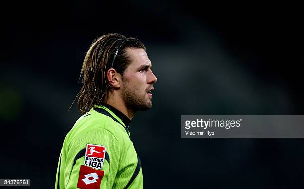 Keeper Logan Bailly of Gladbach is seen during a friendly match between Borussia Moenchengladbach and Borussia Dortmund at the Borussia Park on...