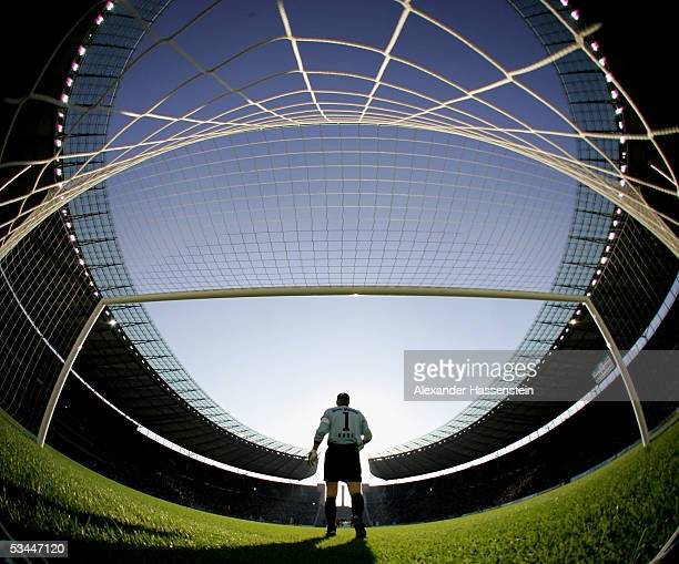 Keeper Oliver Kahn of Munich is seen during the DFB German Cup match between MSV 1919 Neuruppin and Bayern Munich on August 21 2005 at the Olympic...