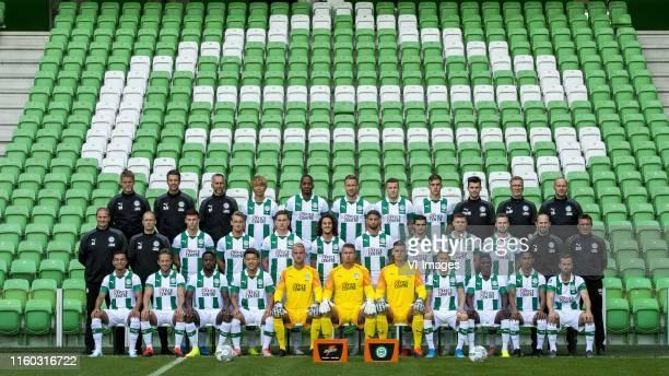 keepertrainer Bas Roorda of FC Groningen assistant coach Sander van Gessel of FC Groningen assistant coach Adrie Poldervaart of FC Groningen Ko...