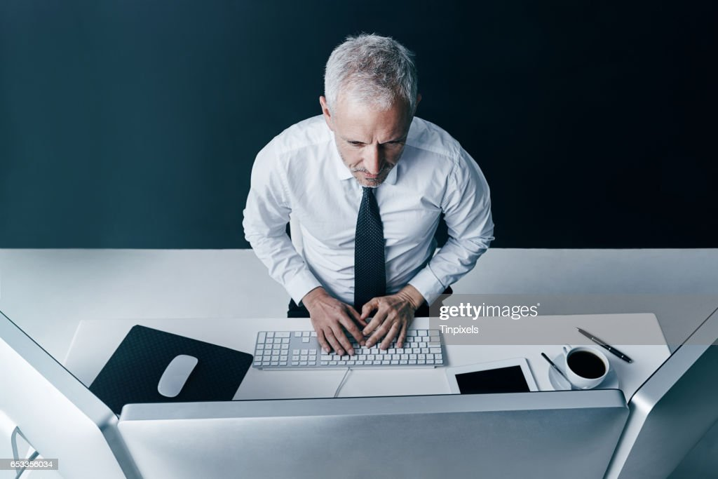 Keeping a close eye on the stock markets : Stock Photo