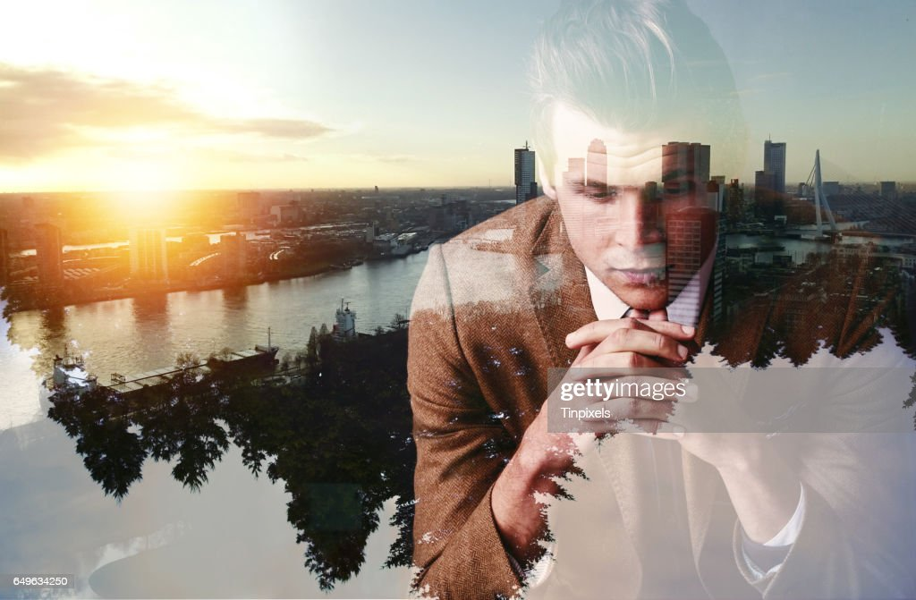 Keeping a watchful eye on his empire : Stock Photo