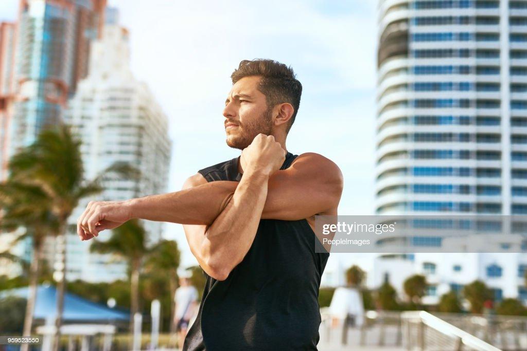 Seine Denkweise und Körper stark zu halten : Stock-Foto