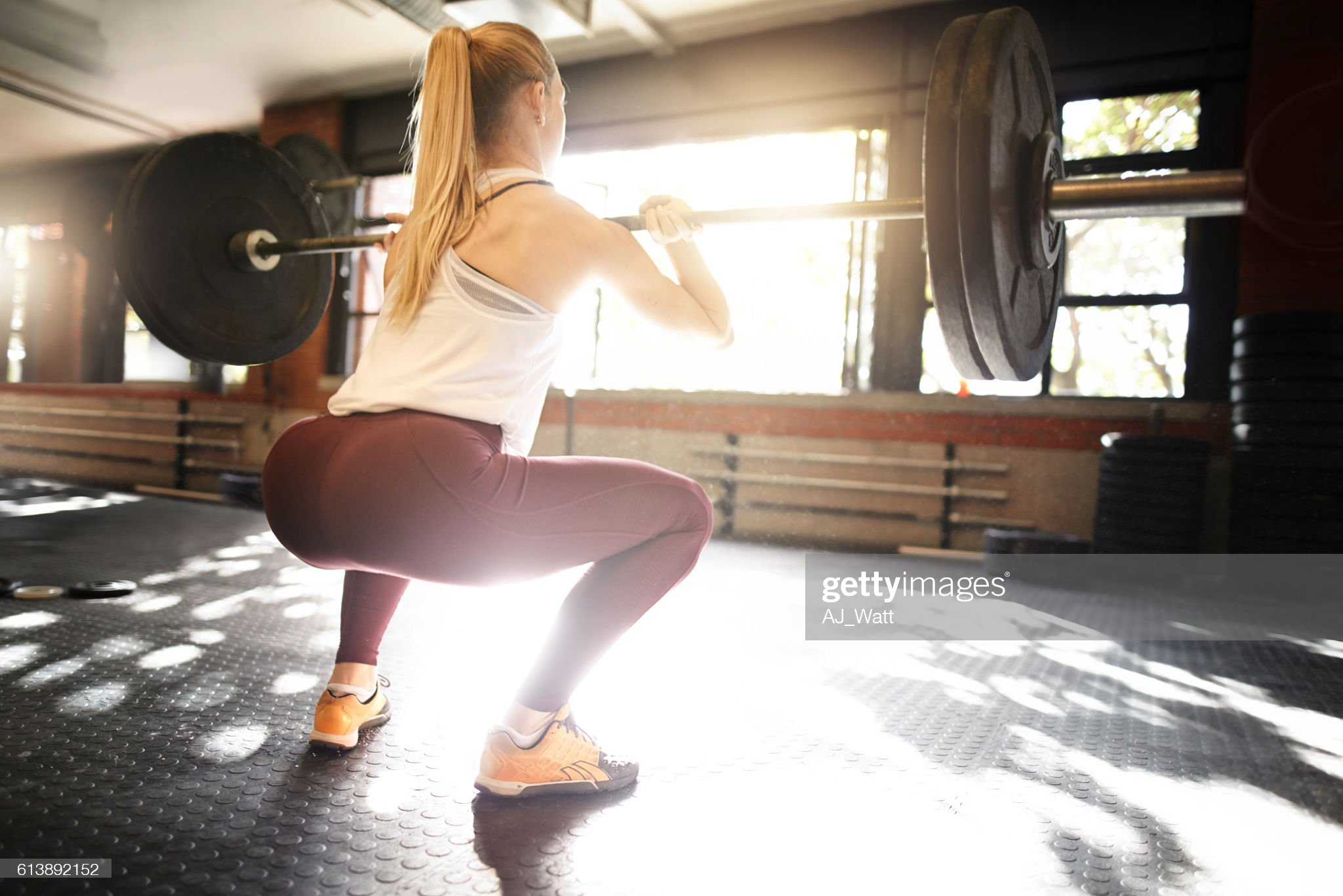 Keeping her glutes tightened and toned : Stock Photo