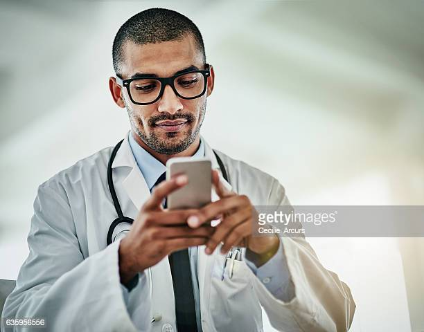 Keeping his patients informed