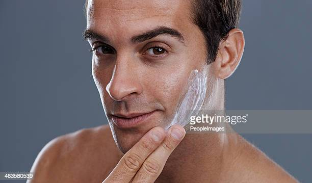Halte die Haut seidig-glatt