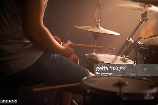 keeping rythme - drum kit stock photos and pictures