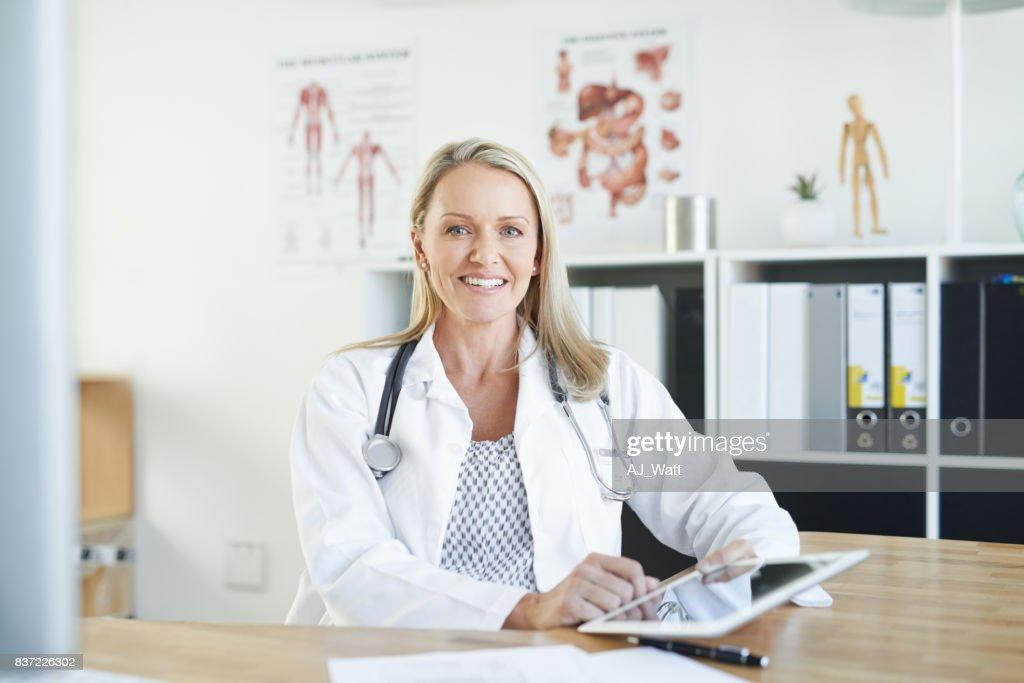 Mein Patient Fortschritte im Visier : Stock-Foto
