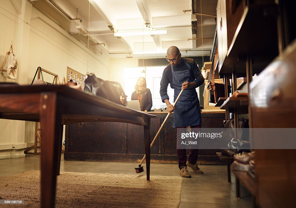 Keeping the place presentable : Stock Photo