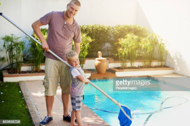 Keeping the pool crystal clear and clean