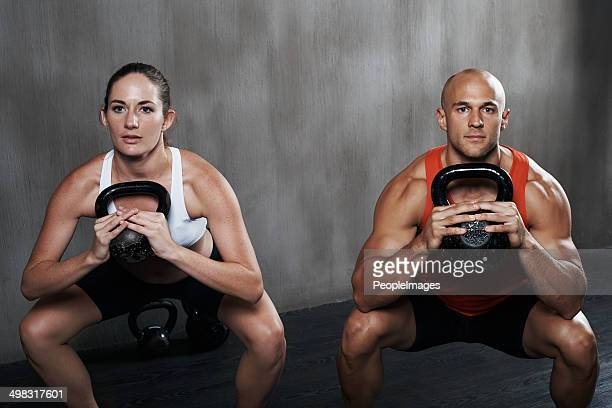 Keeping their composure while squatting