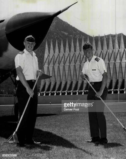Keeping Their 'Lawn' Tidy Air Force Academy Cadets third class Steve Barber Carl Van Pelt Barber left Spokane wash and Carl van Pelt Alexandria va...